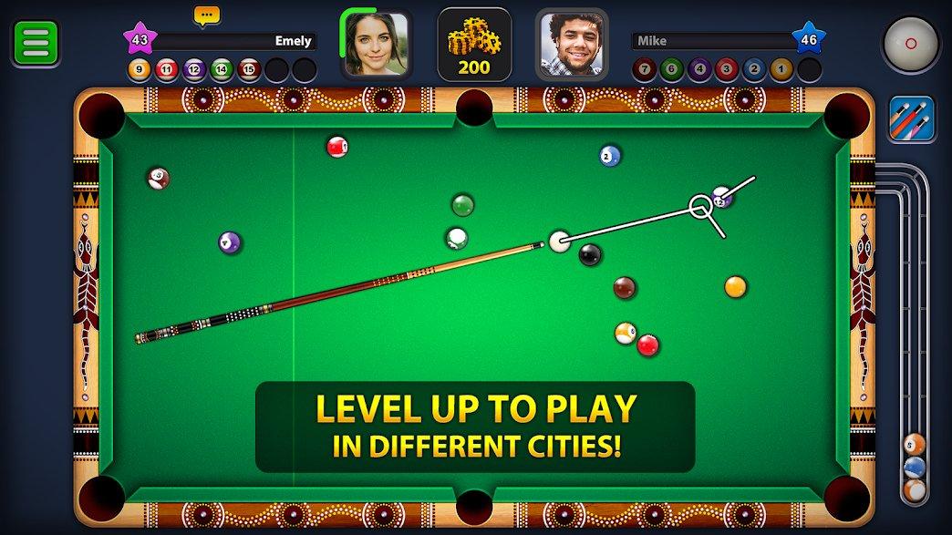 تحميل Eight Ball Pool 5.2.3 – بلياردو 8 مهكرة للاندرويد