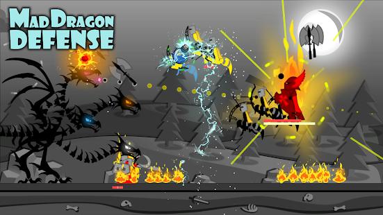 لعبة Mad Dragon Defense مهكرة للاندرويد [Mod+Apk]