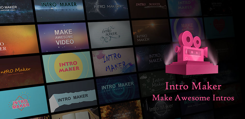 Intro Maker music intro video editor Cover